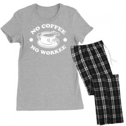 No Coffee No Workee Women's Pajamas Set Designed By Tonyhaddearts
