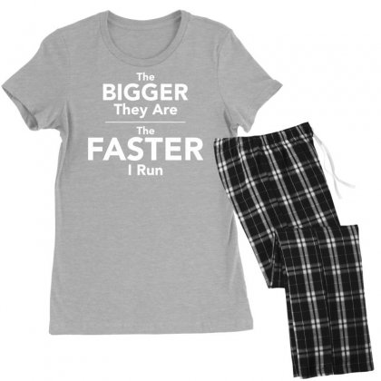 The Bigger They Are The Faster Women's Pajamas Set Designed By Tonyhaddearts