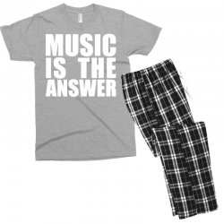 music is the answer printed Men's T-shirt Pajama Set | Artistshot