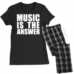 music is the answer printed Women's Pajamas Set | Artistshot