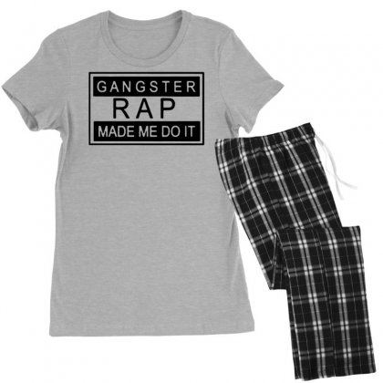 Gangster Rap Made Me Do It Women's Pajamas Set Designed By Tonyhaddearts