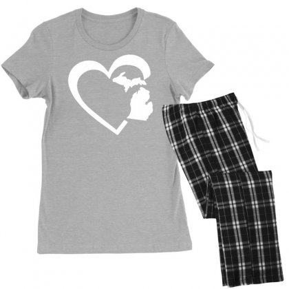 Michigan Heart Love Women's Pajamas Set Designed By Tonyhaddearts
