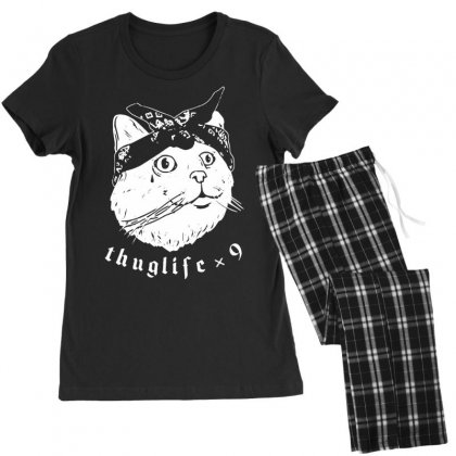 Thug Cat Women's Pajamas Set Designed By Tonyhaddearts
