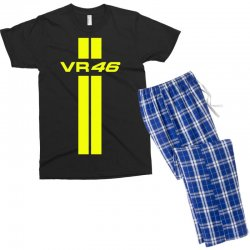 Valentino Rossi Stripes Men's T-shirt Pajama Set | Artistshot