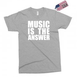 music is the answer printed Exclusive T-shirt | Artistshot