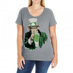 st patricks day  uncle sam Ladies Curvy T-Shirt | Artistshot