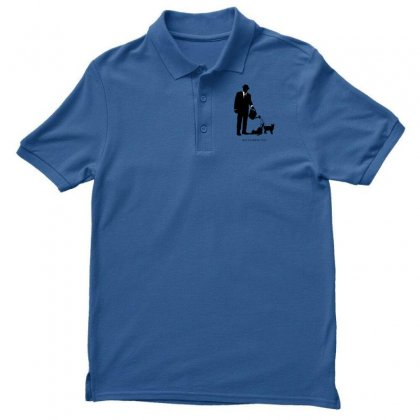 Men Watering Cats Men's Polo Shirt