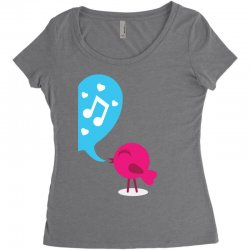 Love Bird Women's Triblend Scoop T-shirt | Artistshot