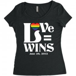 Love Wins Women's Triblend Scoop T-shirt | Artistshot