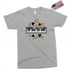 music,keyboard,electronic,piano,triangle,reflections,cute,vectorart, Exclusive T-shirt | Artistshot