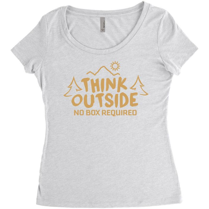 b76fb9a8f Custom Think Outside. No Box Required. Women's Triblend Scoop T ...