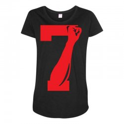 Colin Kaepernick Number 7 Maternity Scoop Neck T-shirt | Artistshot