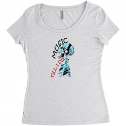 music till i die Women's Triblend Scoop T-shirt | Artistshot