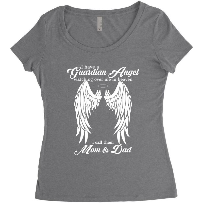 03abd564 i have a guardian angel in heaven i call her dad Women's Triblend Scoop T- shirt