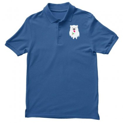 Melted Polar Cream Men's Polo Shirt Designed By Specstore