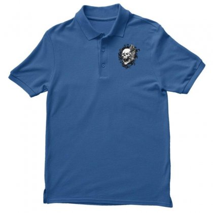 Sealed Vampire Skull Men's Polo Shirt Designed By Specstore