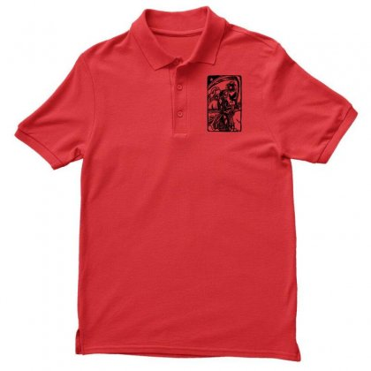 Tarot Death Card Men's Polo Shirt Designed By Specstore