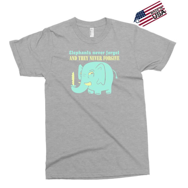 63e53d90 Custom Elephants Never Forget Never Forgive Exclusive T-shirt By Buckstore  - Artistshot