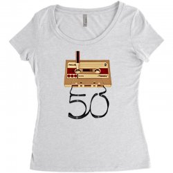 music tape retro Women's Triblend Scoop T-shirt | Artistshot