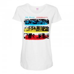 the police synchronicity rock band Maternity Scoop Neck T-shirt   Artistshot