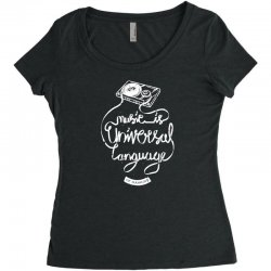 music is the universal language of mankind Women's Triblend Scoop T-shirt | Artistshot