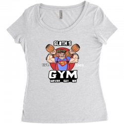 funny gym sloth the goonies fitness t shirt vectorized Women's Triblend Scoop T-shirt | Artistshot