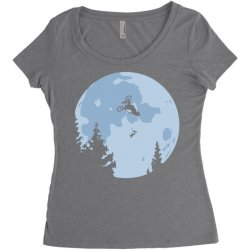 funny et moon bmx Women's Triblend Scoop T-shirt | Artistshot