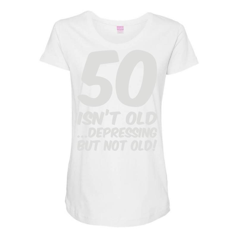 50th Birthday Maternity Scoop Neck T Shirt