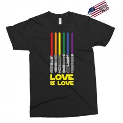 Lightsaber Rainbow - Love Is Love Exclusive T-shirt | Artistshot