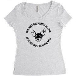 funny drinking dog Women's Triblend Scoop T-shirt | Artistshot