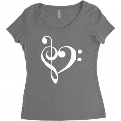 music heart rock baseball Women's Triblend Scoop T-shirt | Artistshot
