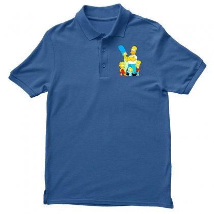 The Simpson Family Men's Polo Shirt Designed By Riyan28