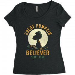 Great Pumpkin Believer Women's Triblend Scoop T-shirt | Artistshot
