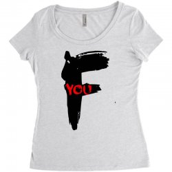 funny mens t shir 'f'yout Women's Triblend Scoop T-shirt | Artistshot