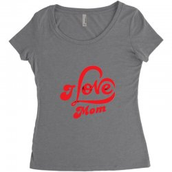 I love mom Women's Triblend Scoop T-shirt | Artistshot
