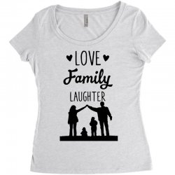 love family laughter Women's Triblend Scoop T-shirt | Artistshot