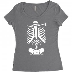 funny bone skeleton Women's Triblend Scoop T-shirt | Artistshot