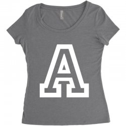 A Initial Name Women's Triblend Scoop T-shirt | Artistshot