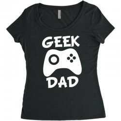 geek dad Women's Triblend Scoop T-shirt | Artistshot