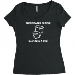 constipated people Women's Triblend Scoop T-shirt | Artistshot