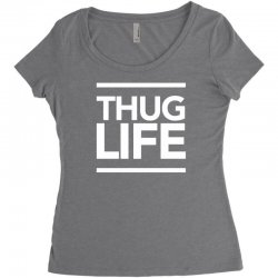 thug life Women's Triblend Scoop T-shirt | Artistshot