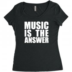 music is the answer printed Women's Triblend Scoop T-shirt | Artistshot