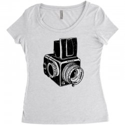 hasselblad vintage camera Women's Triblend Scoop T-shirt | Artistshot
