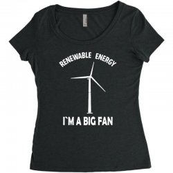 renewable energy Women's Triblend Scoop T-shirt | Artistshot