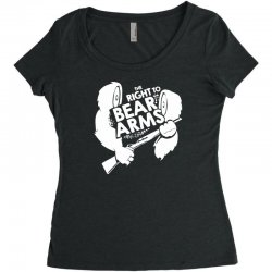 the right to bear arms Women's Triblend Scoop T-shirt | Artistshot
