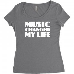 music changed my life Women's Triblend Scoop T-shirt | Artistshot