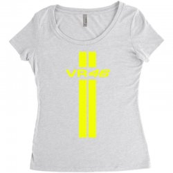 Valentino Rossi Stripes Women's Triblend Scoop T-shirt | Artistshot