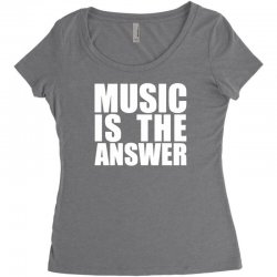music is the answer Women's Triblend Scoop T-shirt | Artistshot