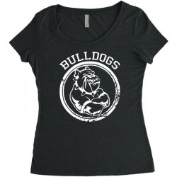 Bulldog Sports Team Women's Triblend Scoop T-shirt | Artistshot