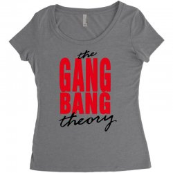 the gang bang theory Women's Triblend Scoop T-shirt | Artistshot